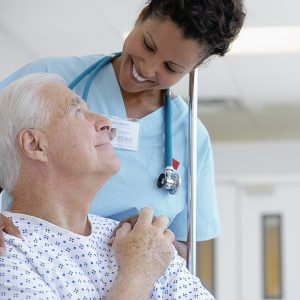 Nurse discussing health insurance coverage with a patient in Germantown, MD